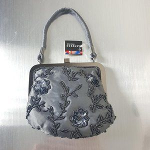 Vintage 90's Express Satin Beaded Sequins Mini Bag